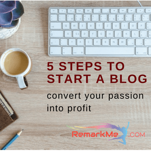 5 steps to start a blog